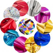 Цветная фольга для дизайна ногтей