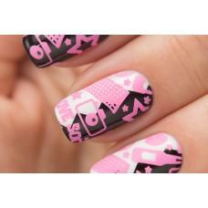 Stamping #11 — Pink