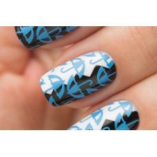 Stamping #09 — Blue