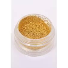 12 - золотые металлические бульонки (размер 0, 4)