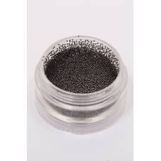 14 - черные металлические бульонки (размер 0, 4)