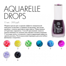 Aguarelle drops # 01 Red