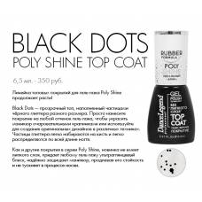 Top Poly Shine BLACK DOTS